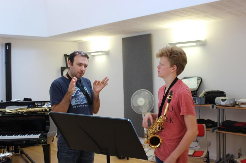 Dom Childs saxophone lesson, The Ingenium Academy 2015
