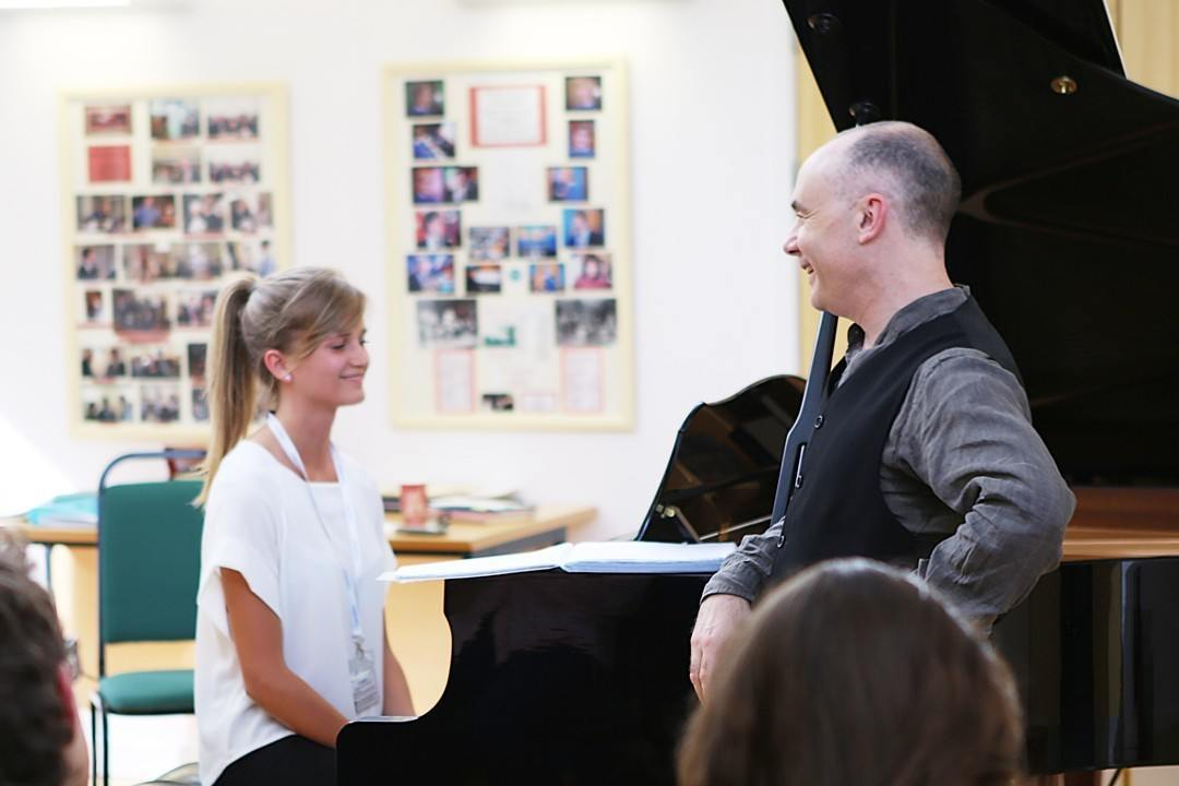 Piano masterclass with Andrew Zolinsky at the Ingenium Academy International Summer School for Music