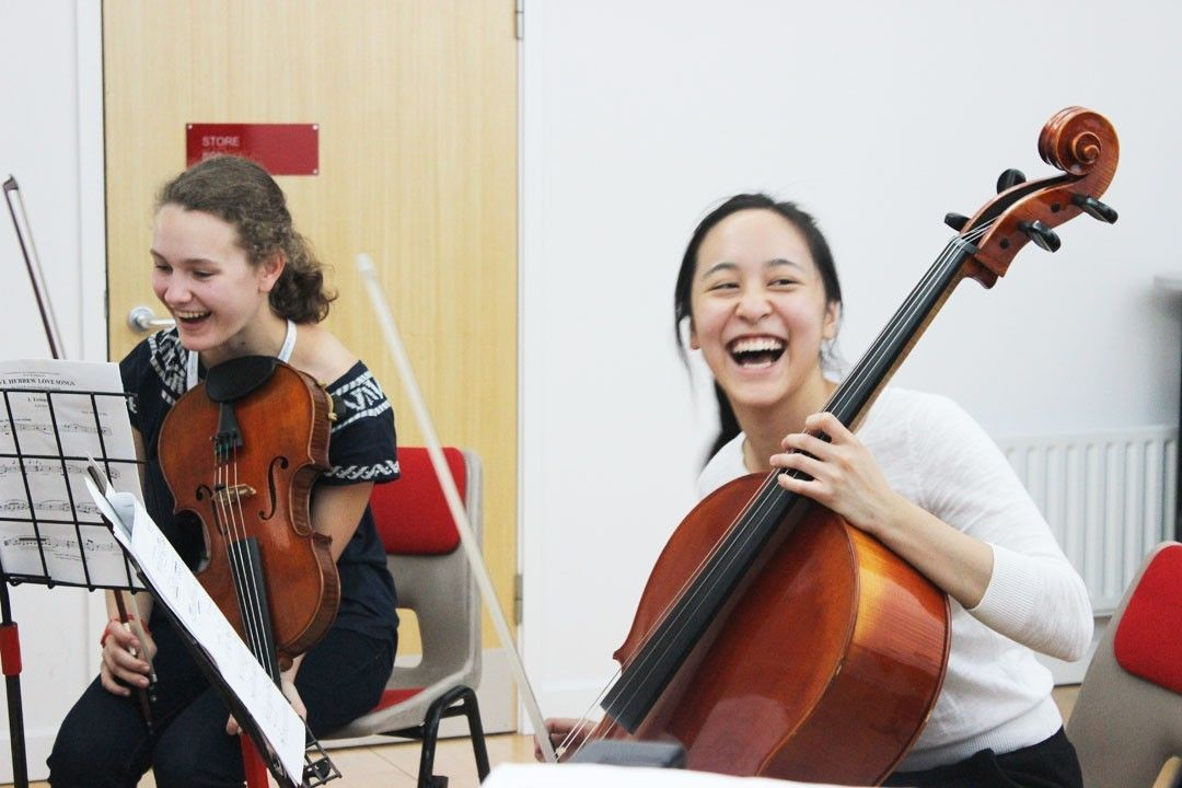 Cello and viola students at the Ingenium Academy summer music course