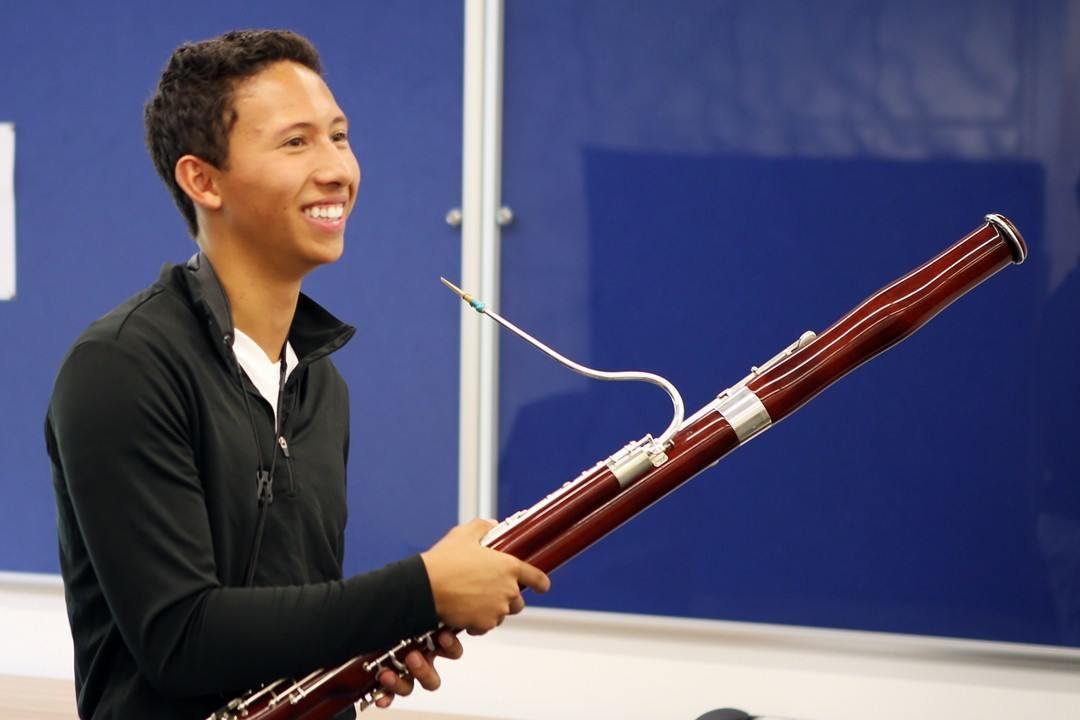 Bassoon student at the Ingenium Academy summer music course