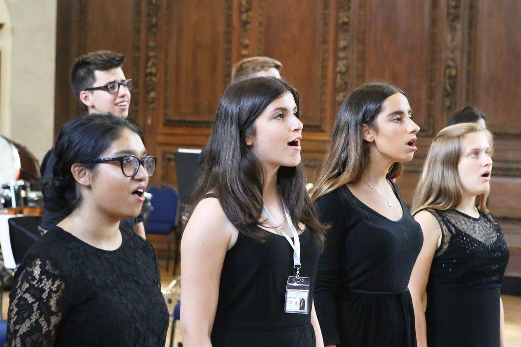 Altos performing in the choir during our week 1 concert