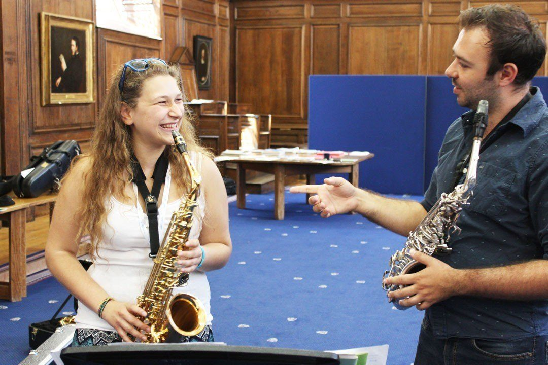 One-to-one saxophone lesson with Dom Childs at Winchester College
