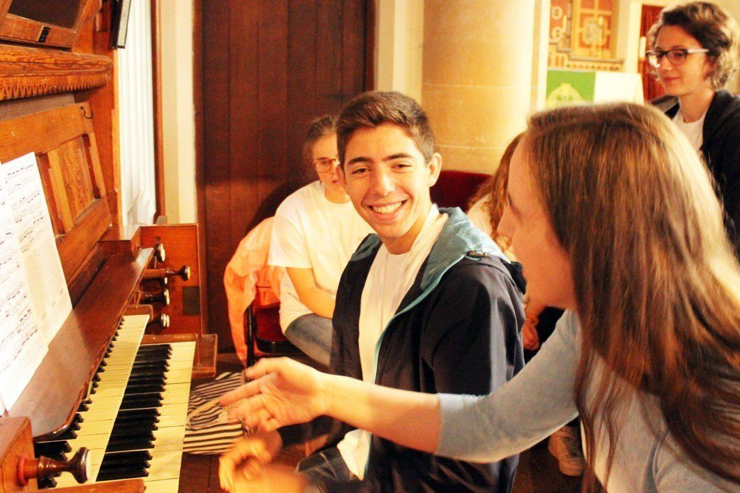 Opportunities on the piano programme include using the chapel organ