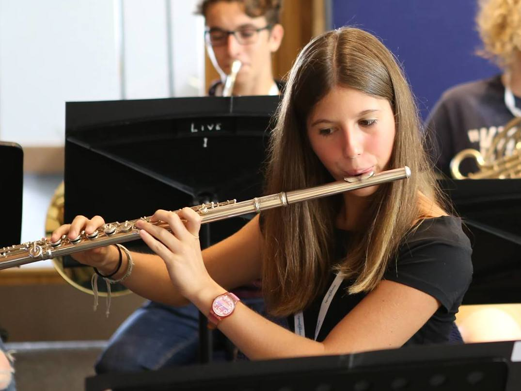 Caterina, flute student, summer residential course, England
