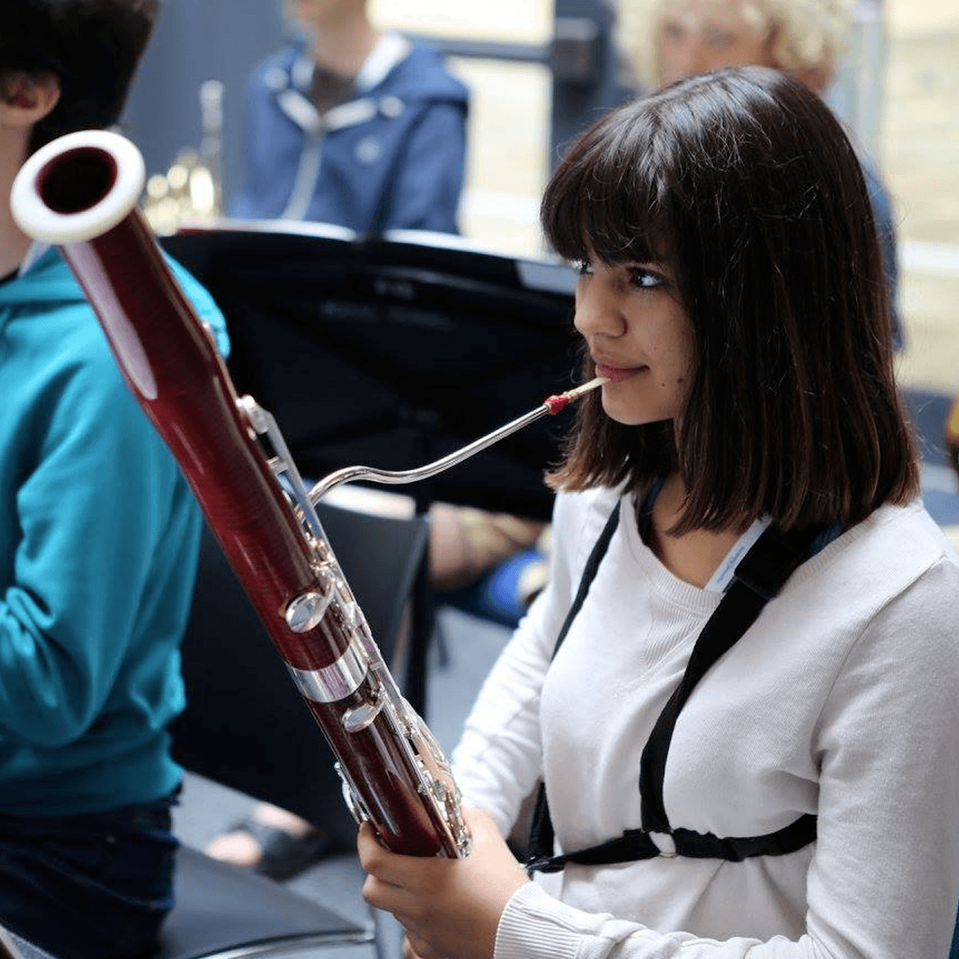 Bassoon student at the Ingenium Academy summer orchestra course
