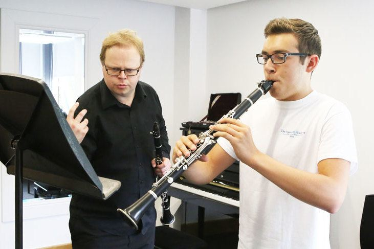 Peter Sparks, clarinet lesson at the Ingenium Academy 2016