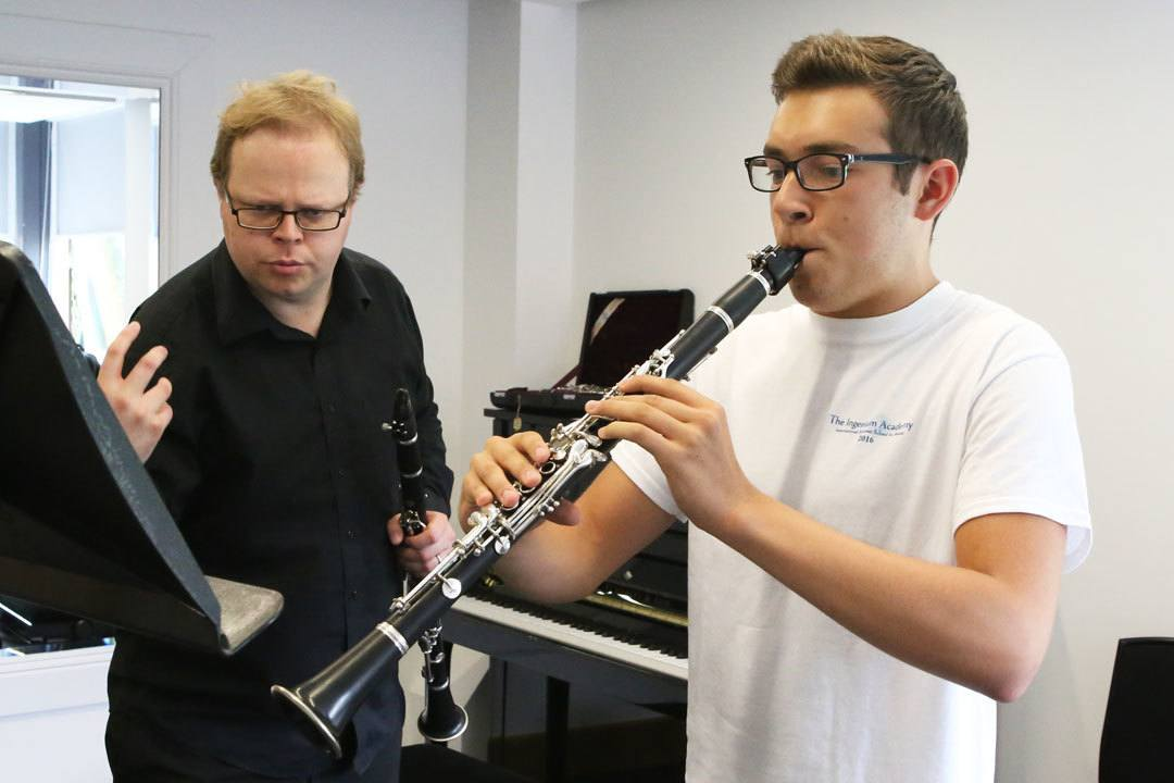 Clarinet lessons at the summer school