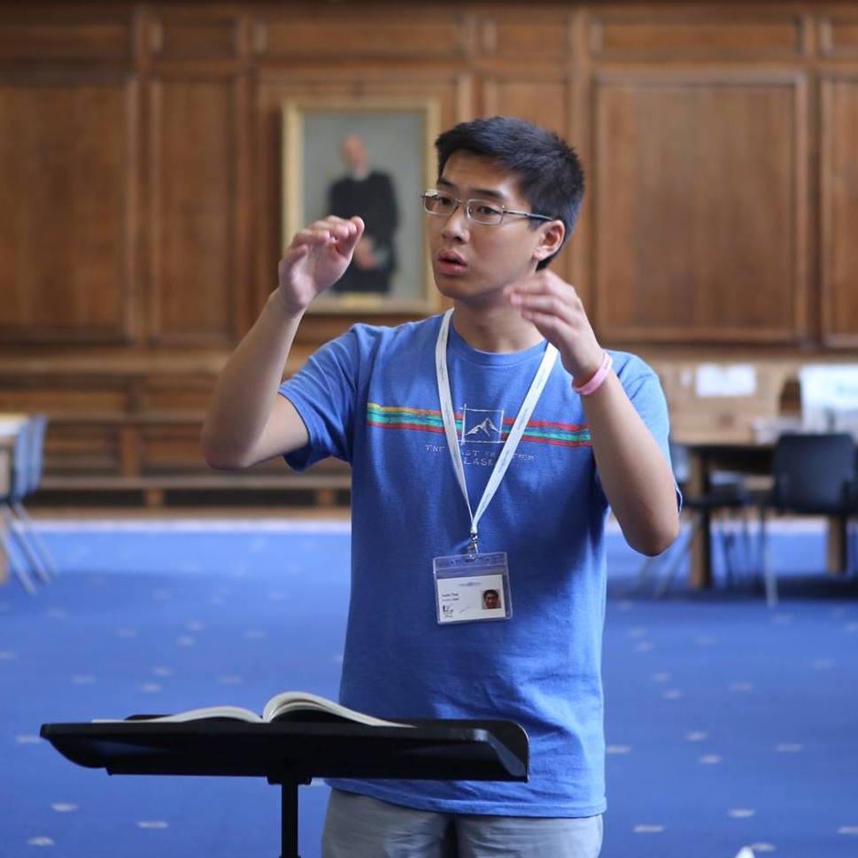 Justin, conducting student 2018
