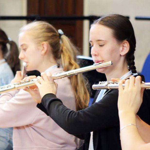 Olivia, flute student at the 2018 summer school