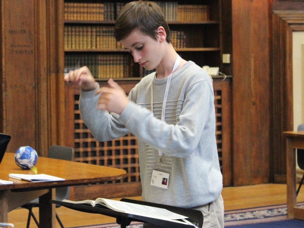 Louis, conducting student from the UK