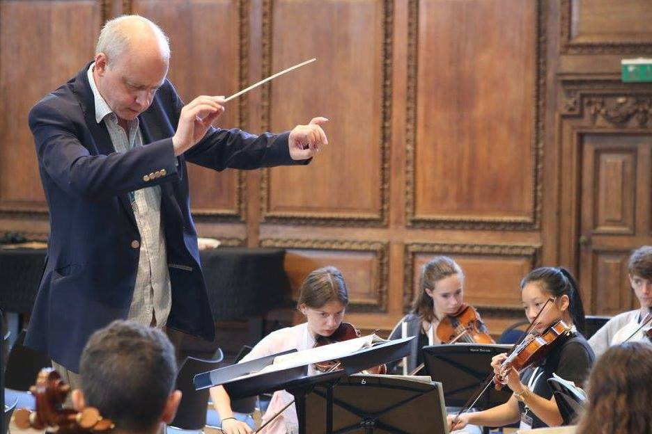 Conductor and composer Matthew Taylor at the Ingenium Academy