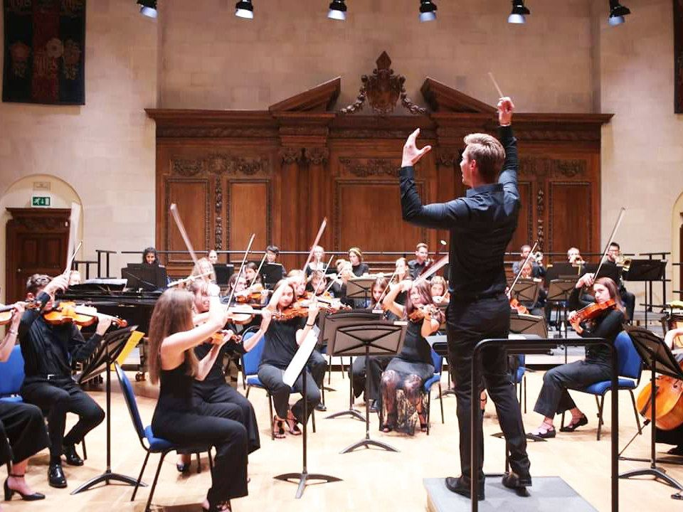 Orchestral rehearsal with Lee Reynolds at the Ingenium Academy