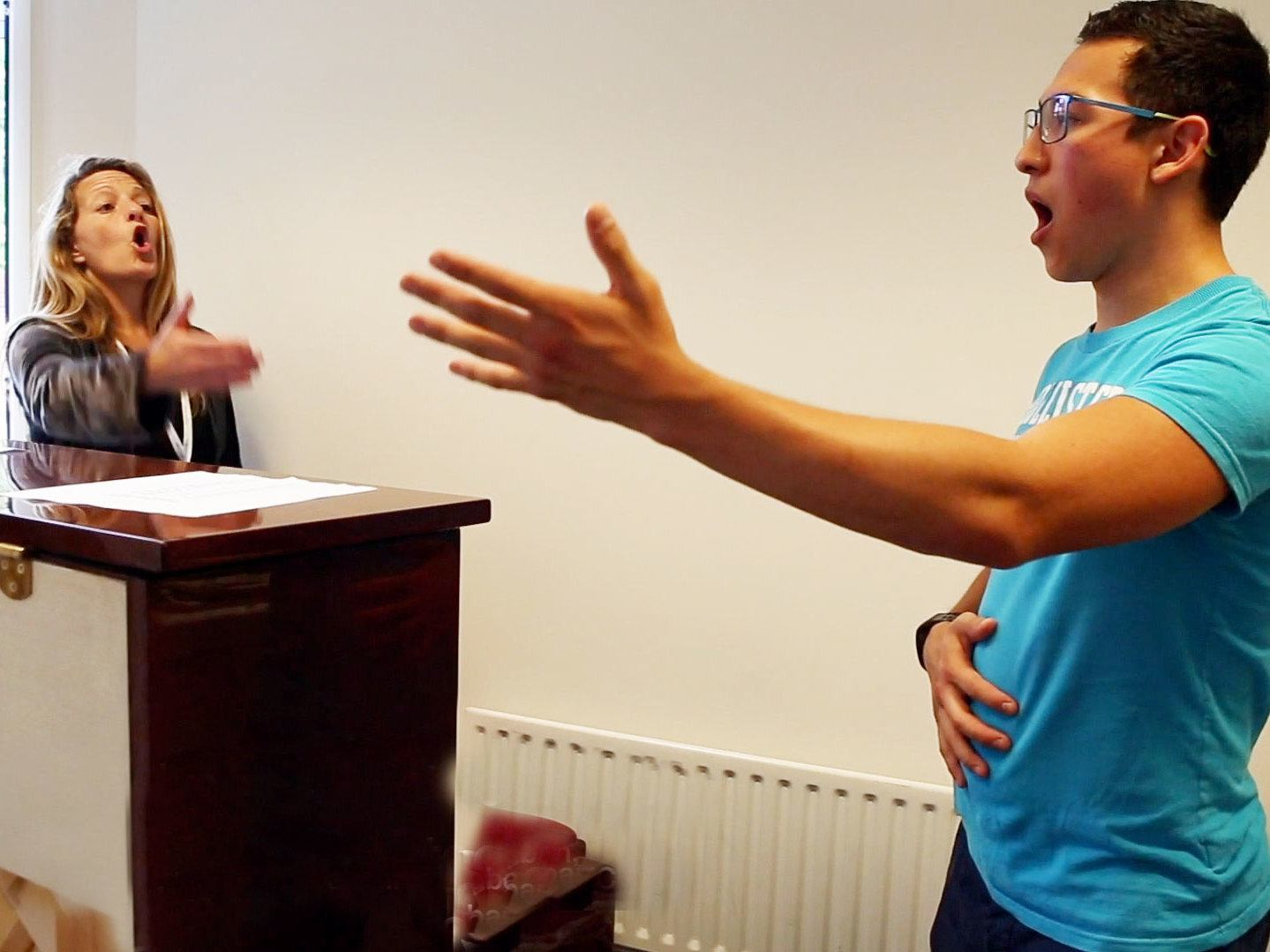 Sophie Grimmer teaching a singing lesson at the Ingenium Academy, England