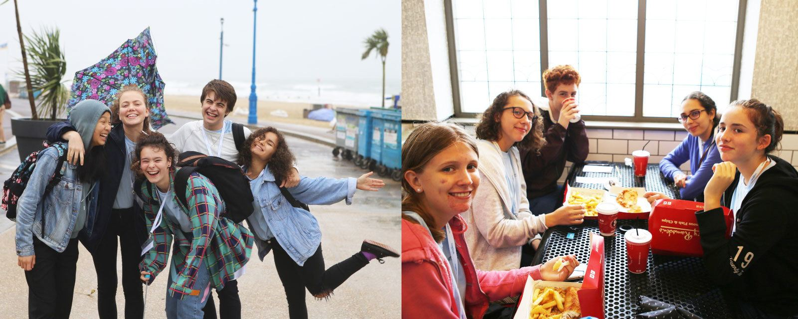 Trip to Bournemouth, getting the British seaside experience with Fish and Chips