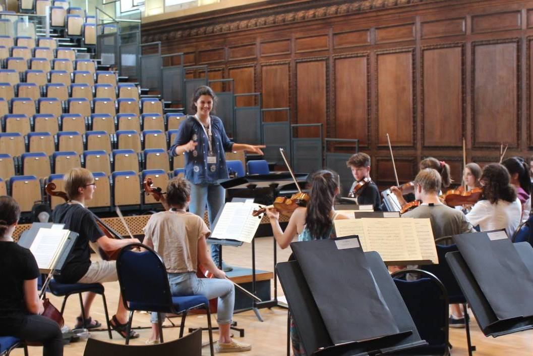 Conducting workshop in musicianship session