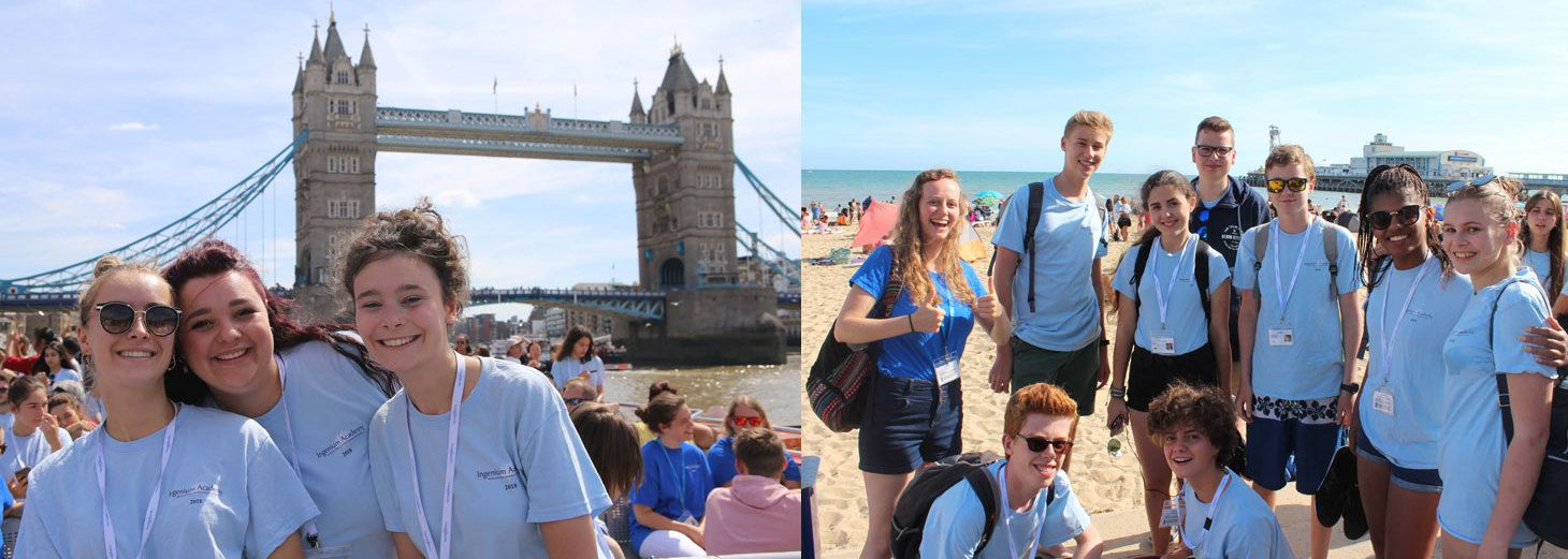 The Ingenium Academy day trip including London (Tower Bridge, Tower of London, Houses of Parliament, Buckingham Palace) and the south coast