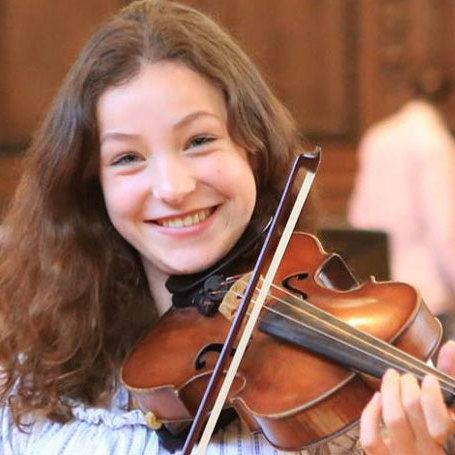 Kristina, violinist from Germany on our Chamber Music course