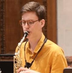 Pierre-Jean, saxophone student 2018