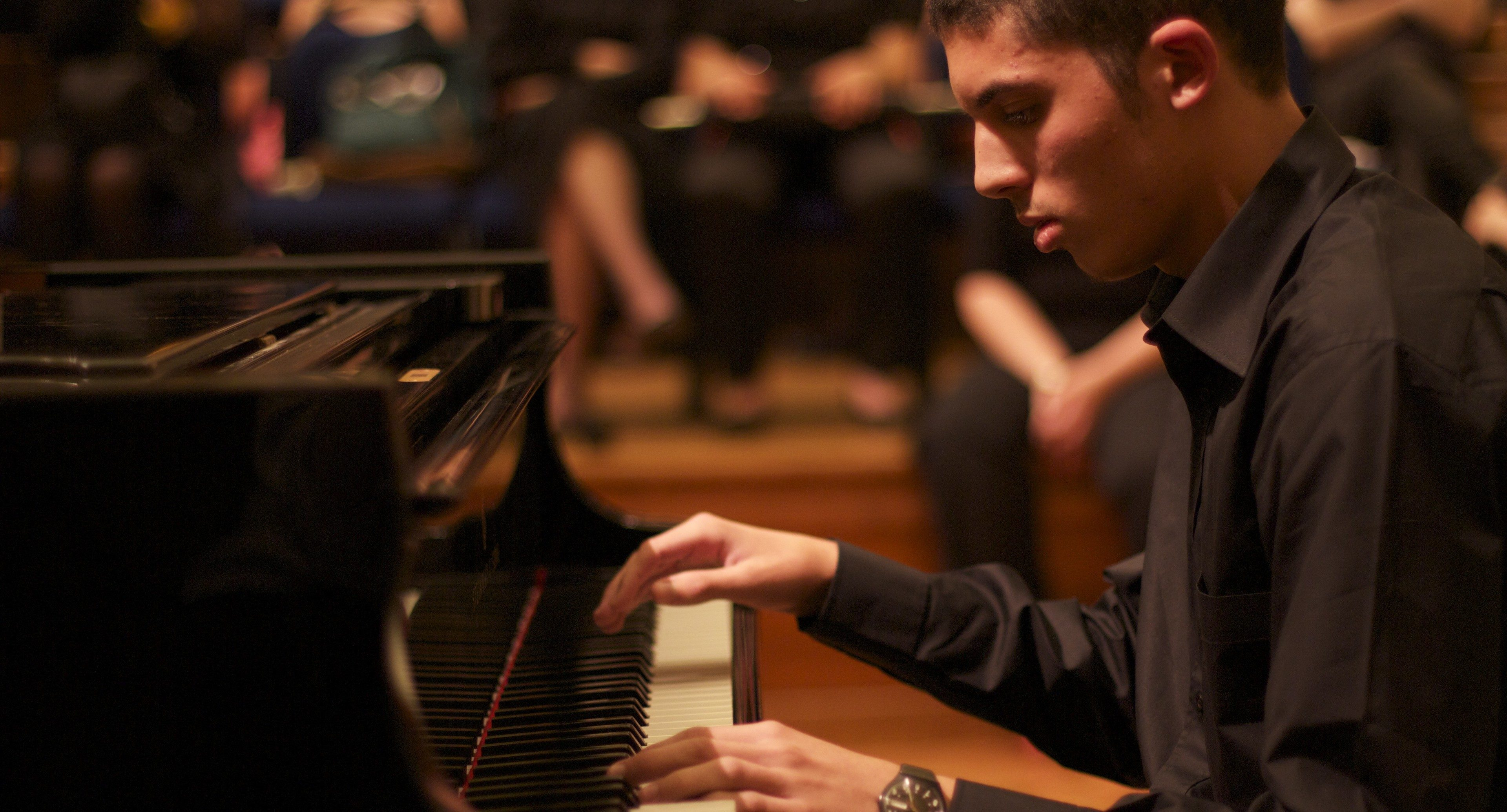 Student performing during The Ingenium Academy summer piano programme