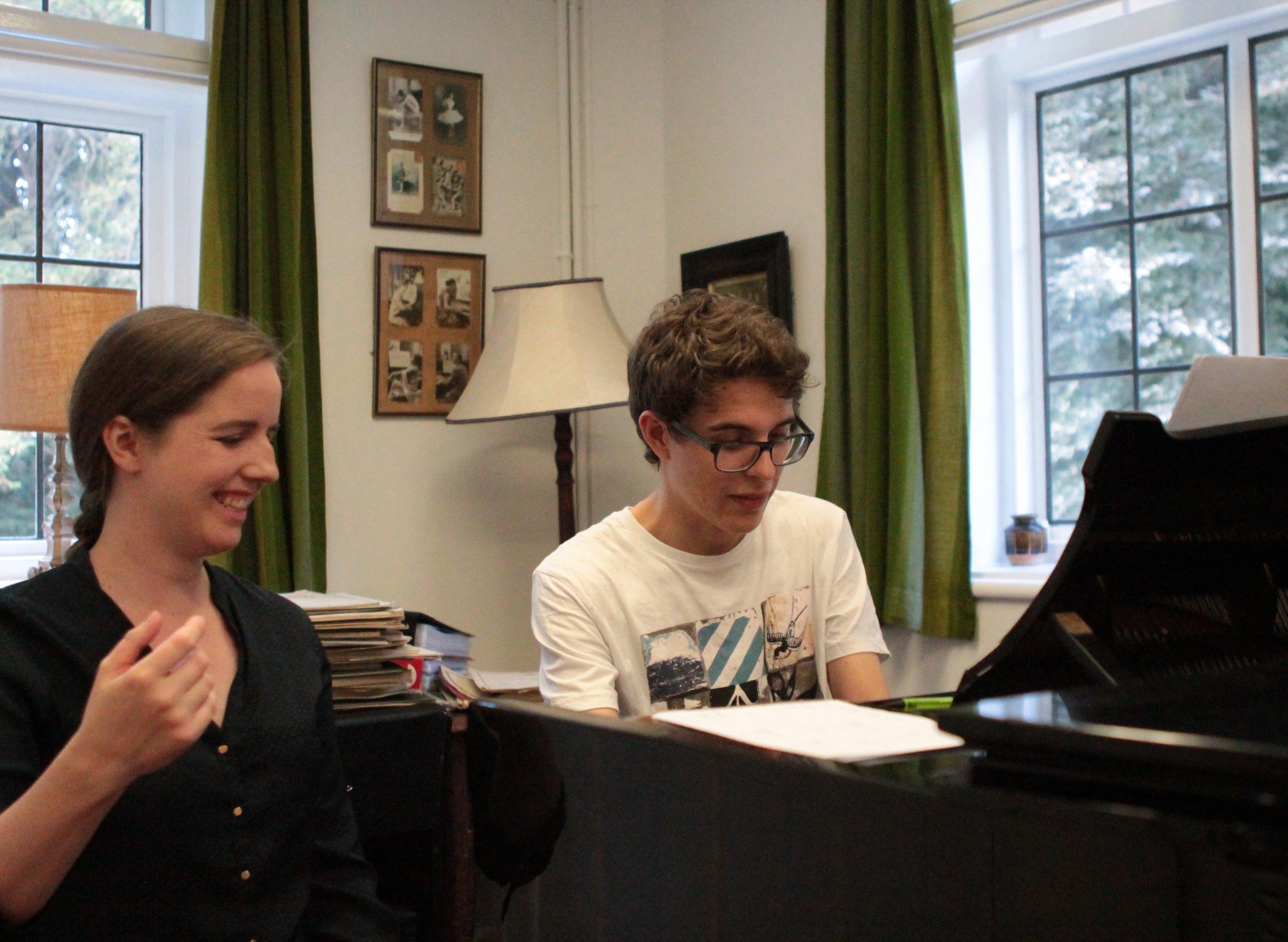 Clíodna Shanahan, piano tutor for Ingenium Academy 2015