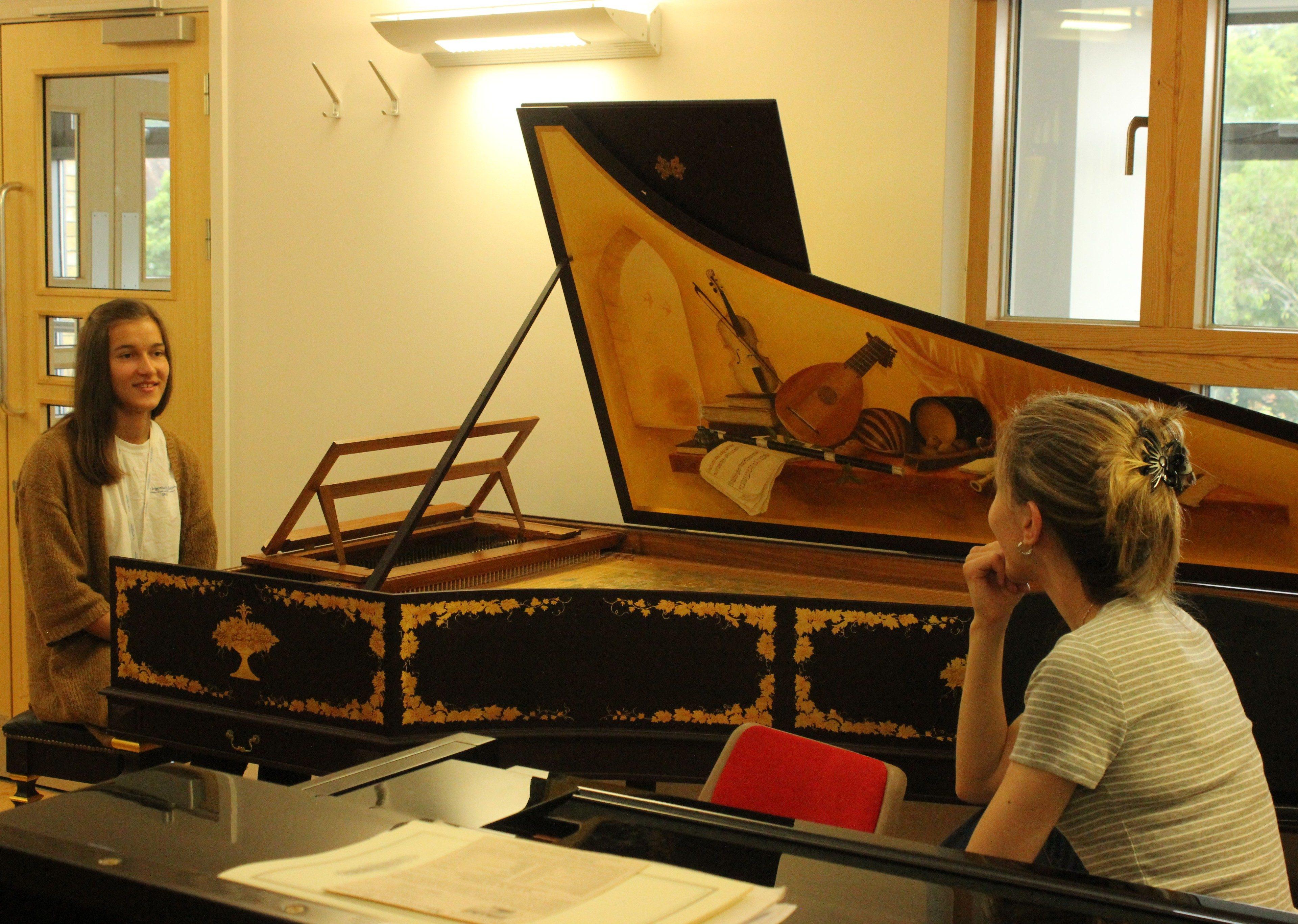 Harpsichord rehearsal Ingenium summer school