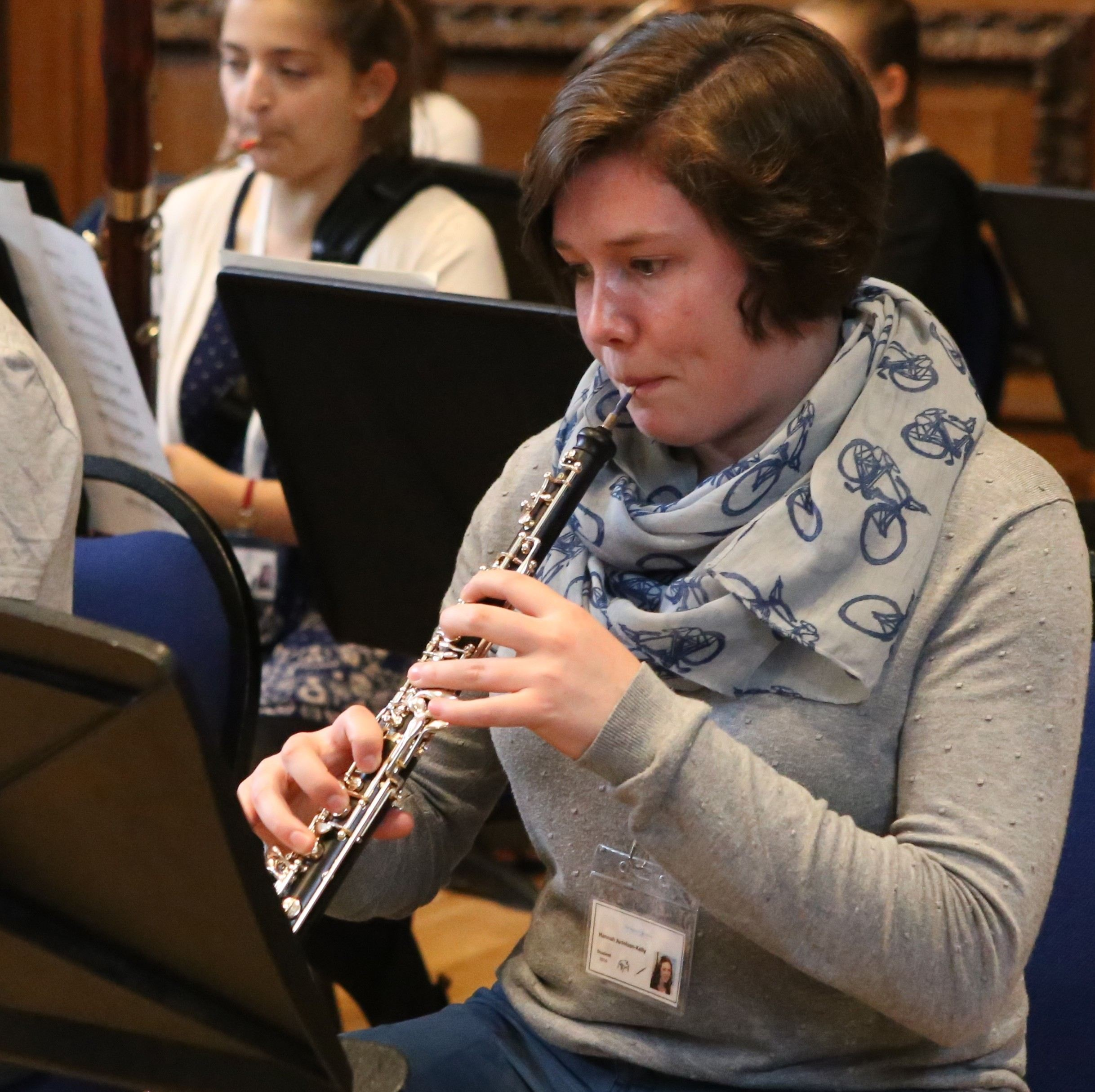 Student on the oboe summer programme, England, UK