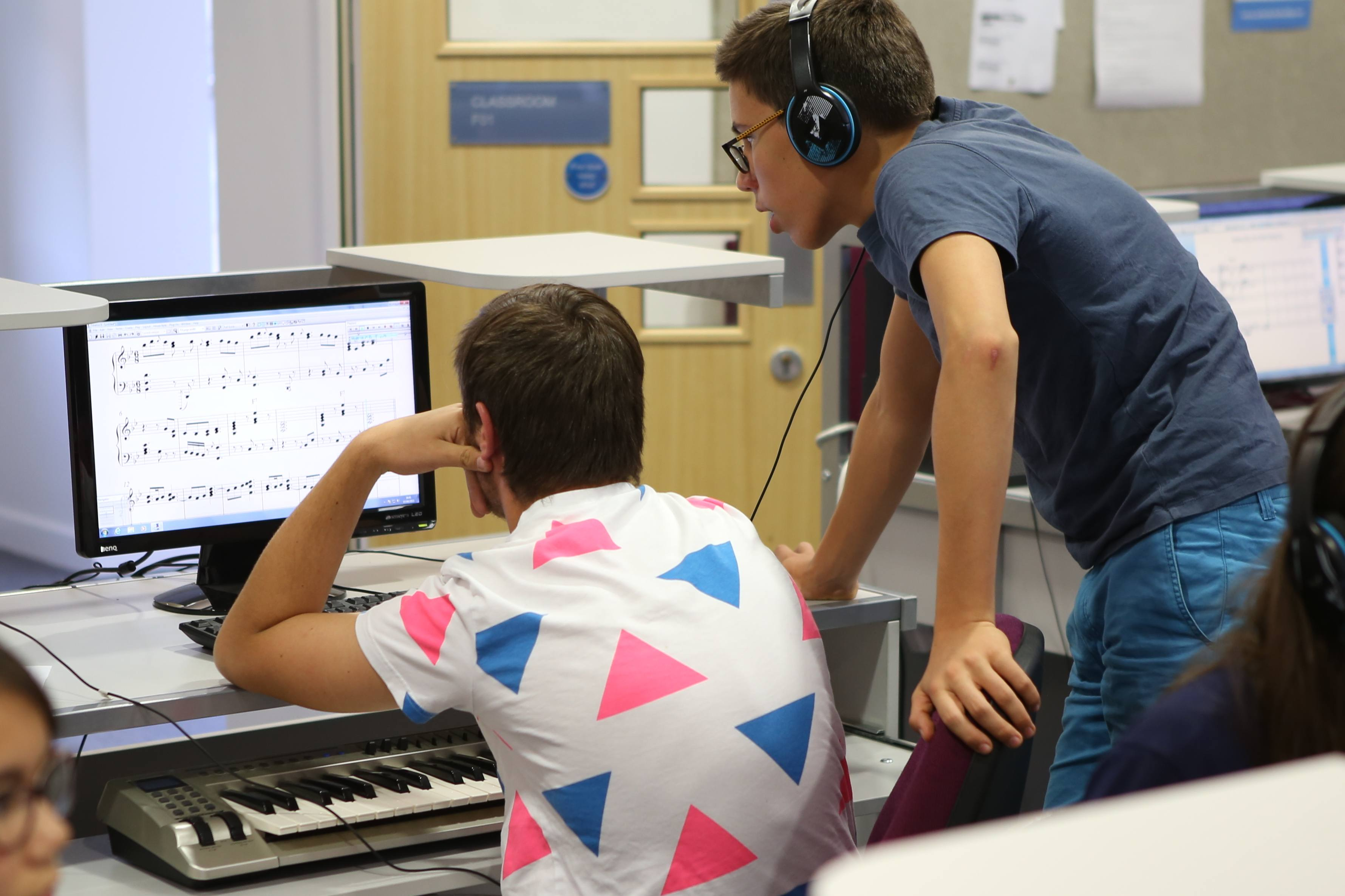 Students at the Ingenium Academy international composition summer course
