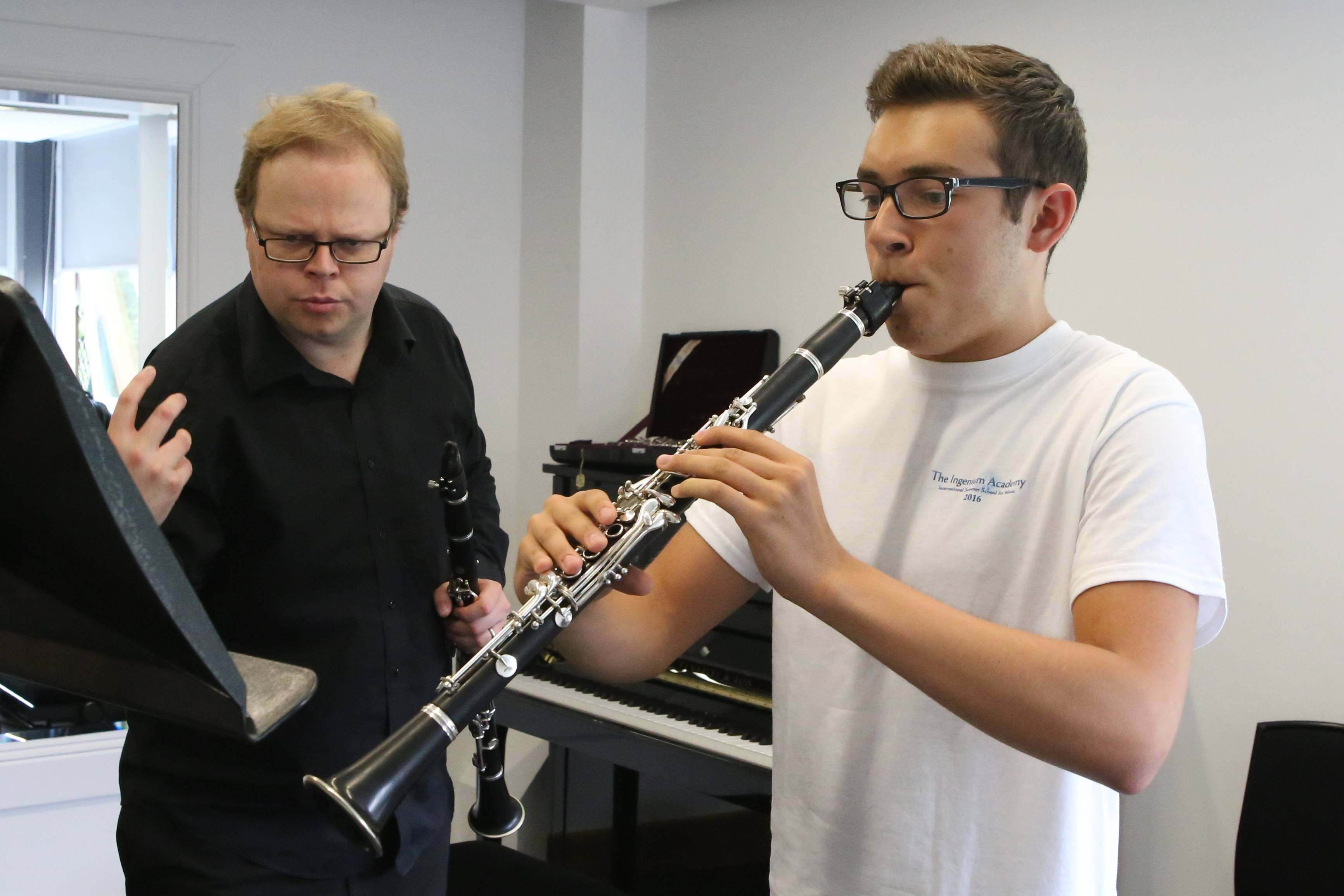 Clarinet lesson at Ingenium Academy international music summer course