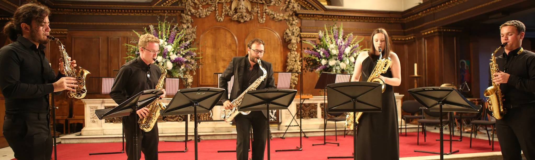 Saxophone summer course England - Concert at St James' Piccadilly