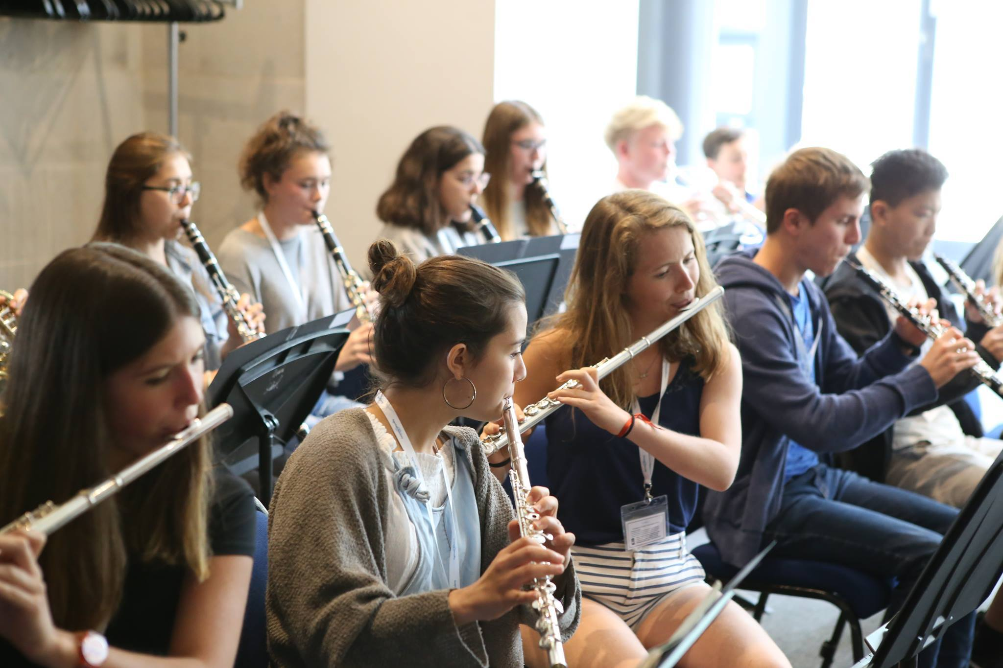 Young woodwind musicians from other countries