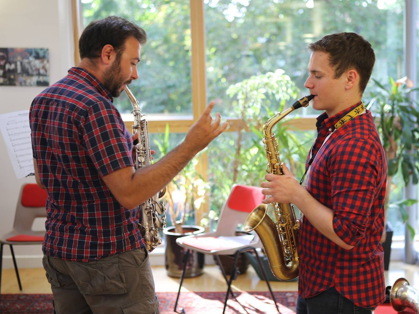 Saxophone lessons at Ingenium include extended techniques