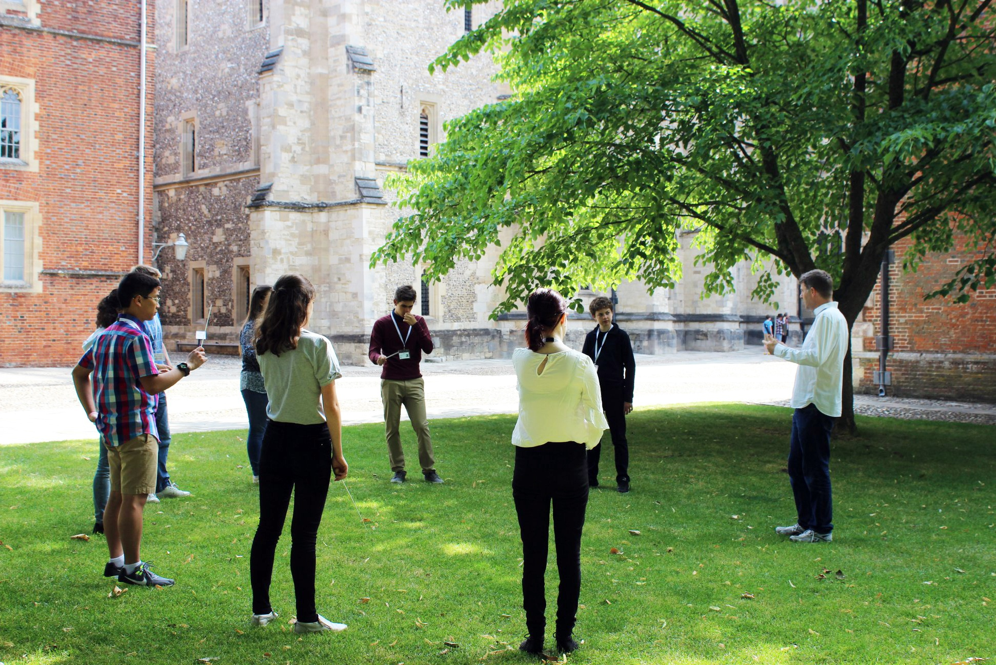 Conducting summer school in the quad