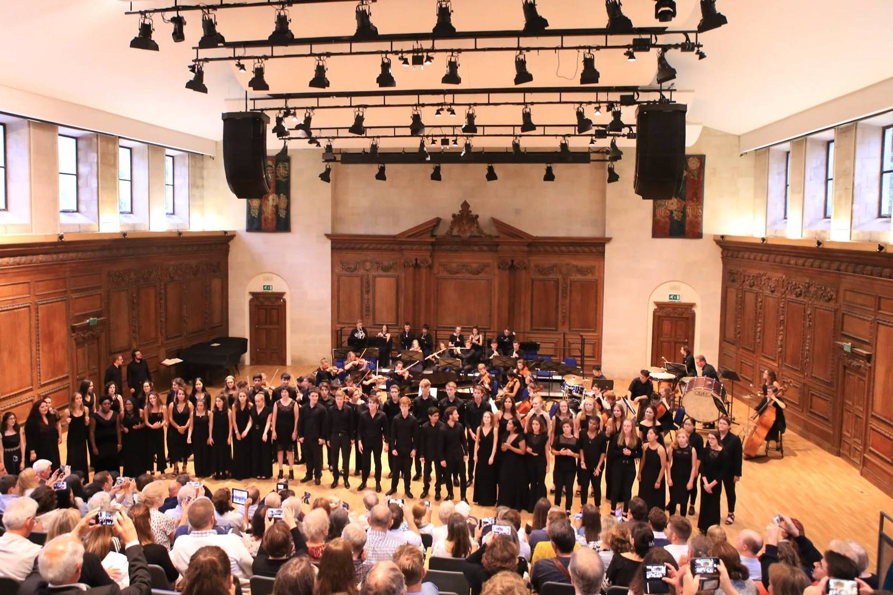 Finale performance in New Hall, Winchester College