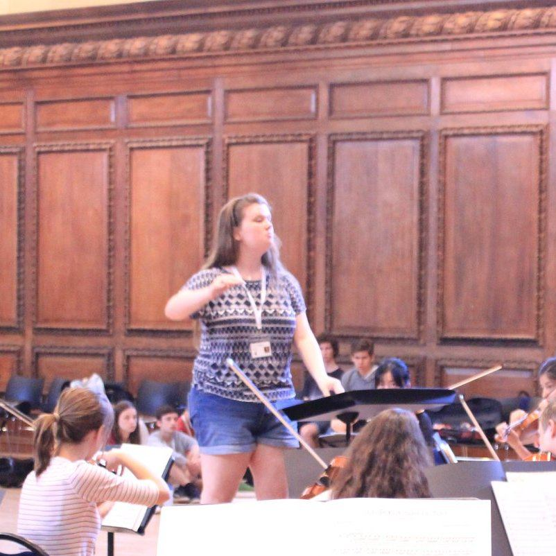 Katie, conducting programme student last summer