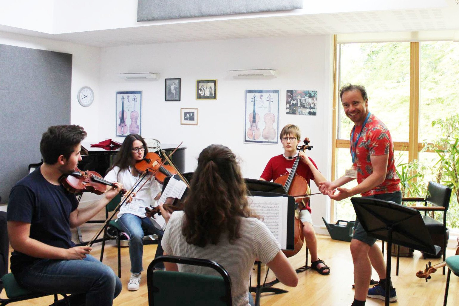 Matthew Sharp coaching our string quartet