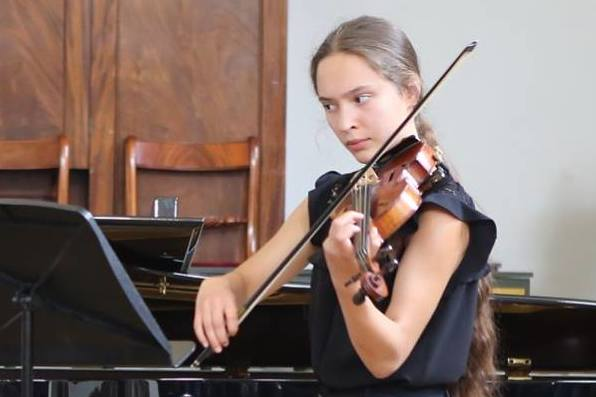 Violin student Polina