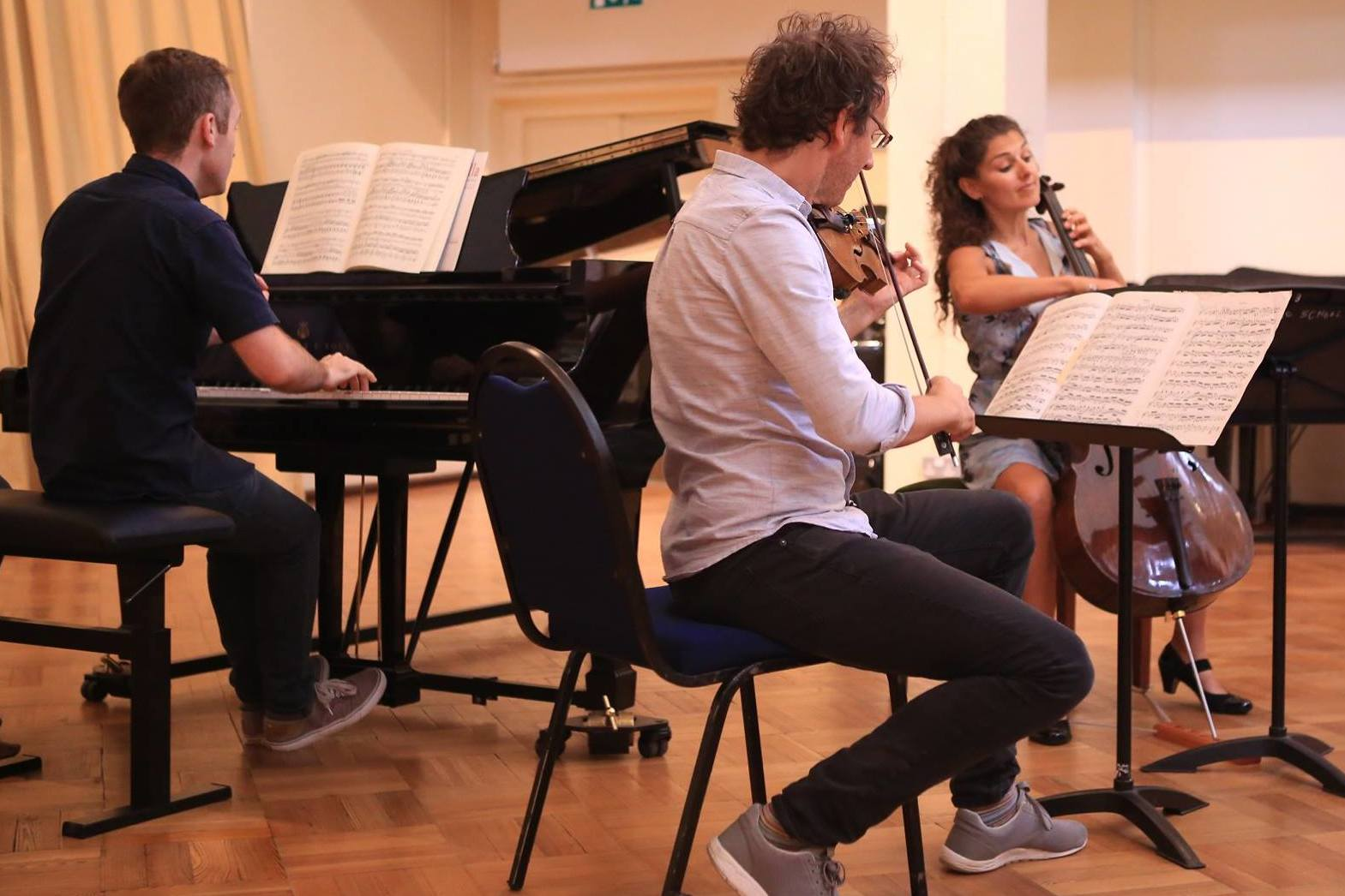 Musicians from the Carducci Quartet performing in a masterclass at the Ingenium Academy