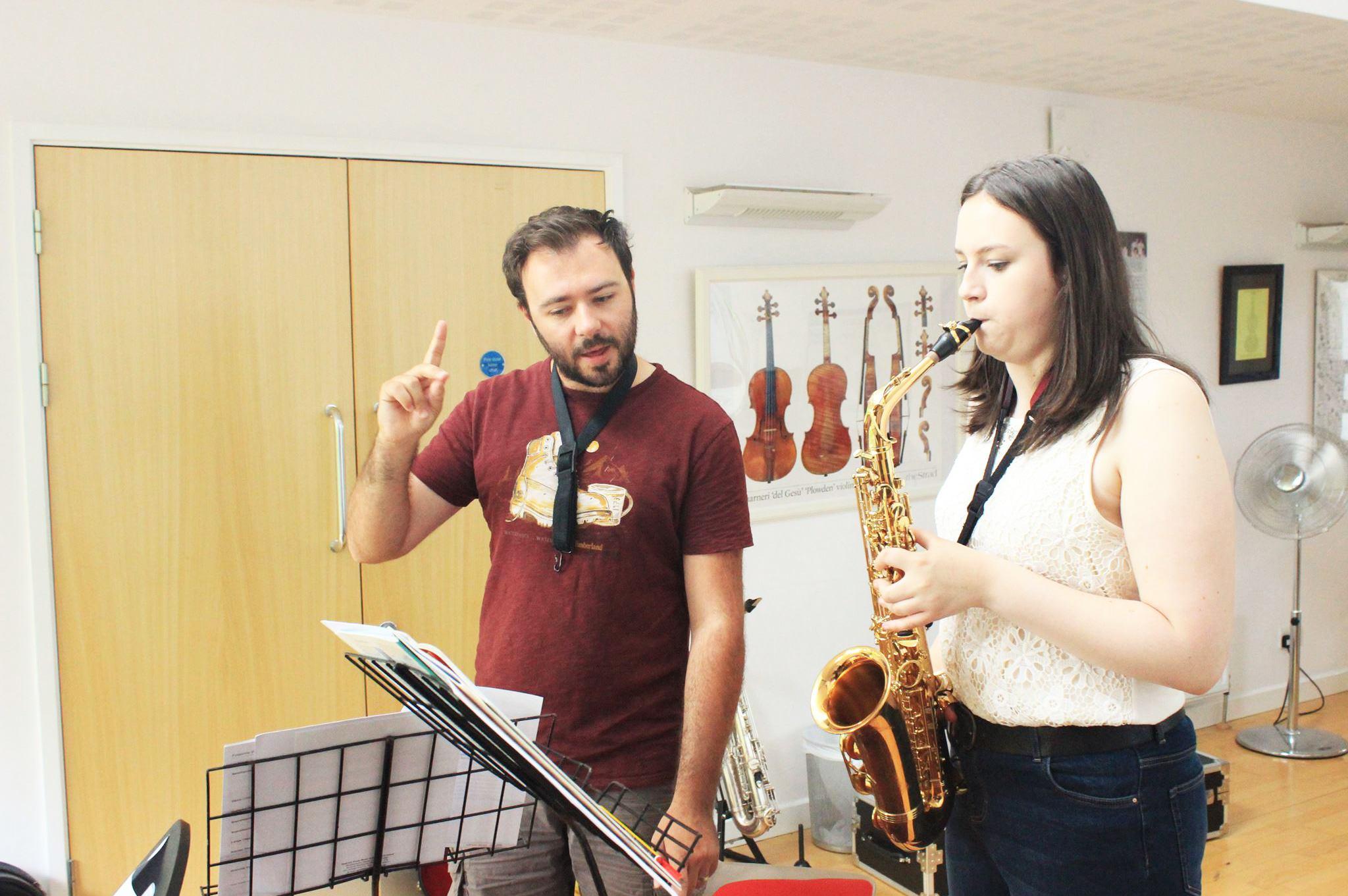 Dominic Childs, Saxophone tutor at the Ingenium Academy