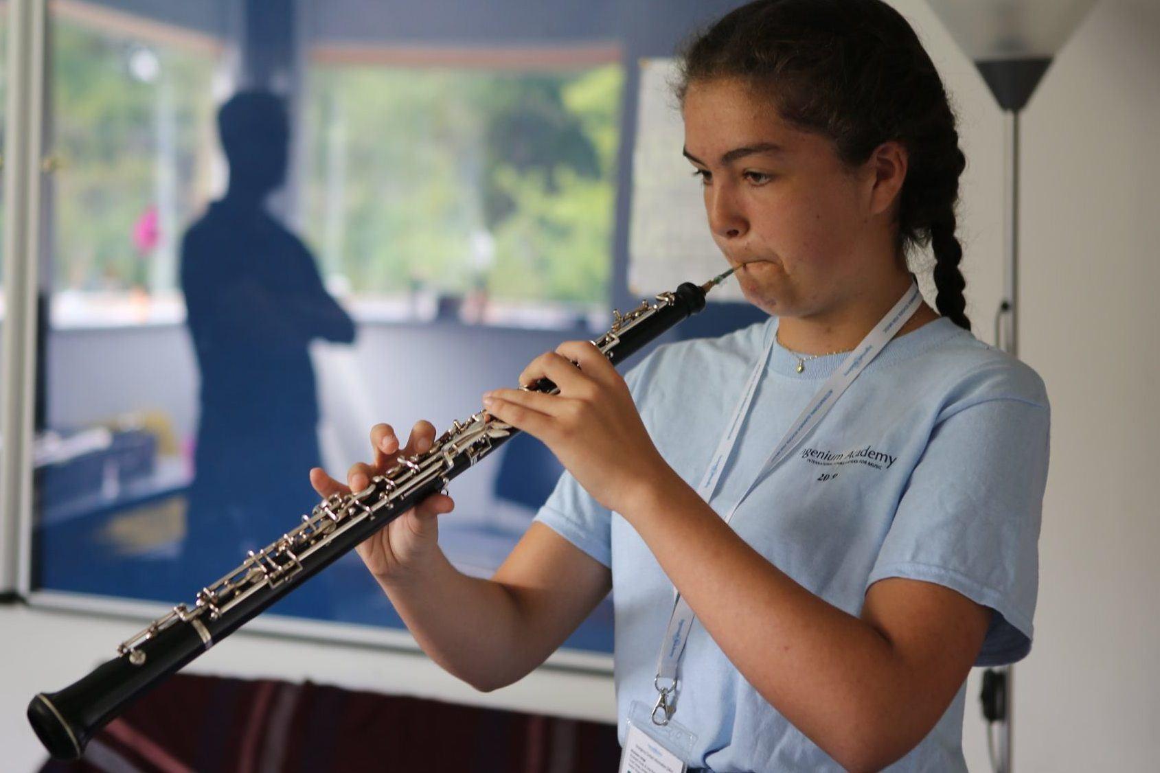 Nina, student the Ingenium Academy orchestra programme