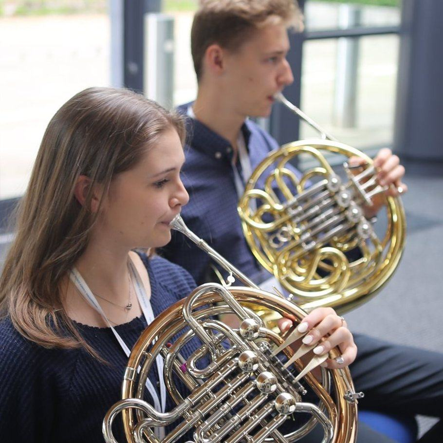 French Horn students on the Ingenium Academy summer orchestra course
