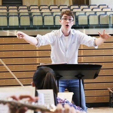 Ollie, conducting student at the Ingenium Academy summer conducting programme