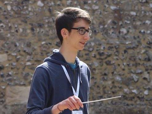 Ben, conducting student, summer residential course, england