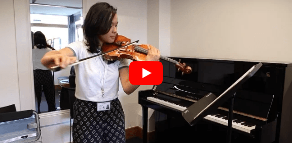 Audition video for summer music programme