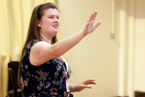 Katie, student at the Ingenium Academy summer conducting program