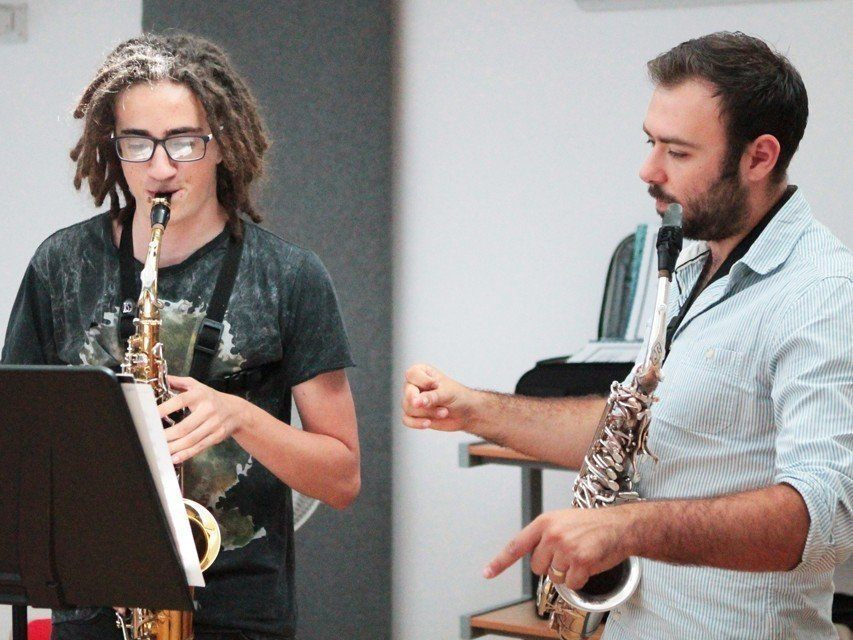 Dominic Childs tutoring at the Ingenium Academy Saxophone programme, Summer 2015