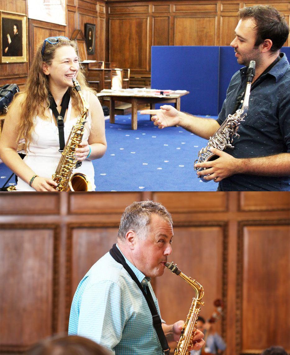 Dom Childs, saxophone teacher