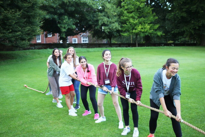 Tug-of-war at our Sports Day evening activity