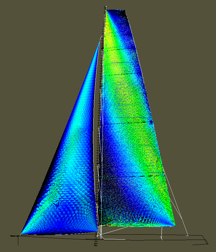 Membrain_2012_Model of MN+Jib at 12t45 showing strain map of the sailplan_2.png