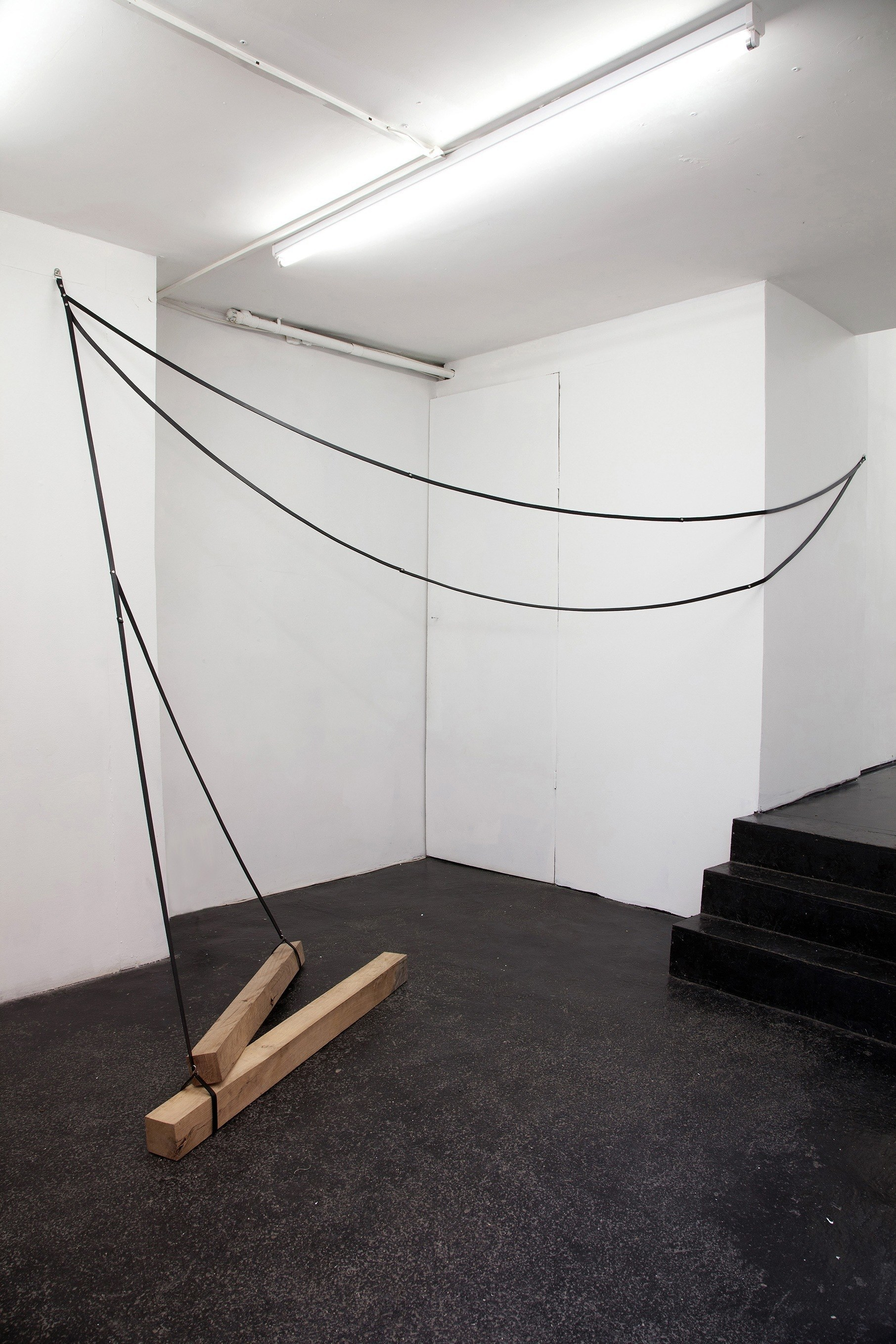 Simona Brinkmann. Underling (2014). Leather, oak, metal fittings.