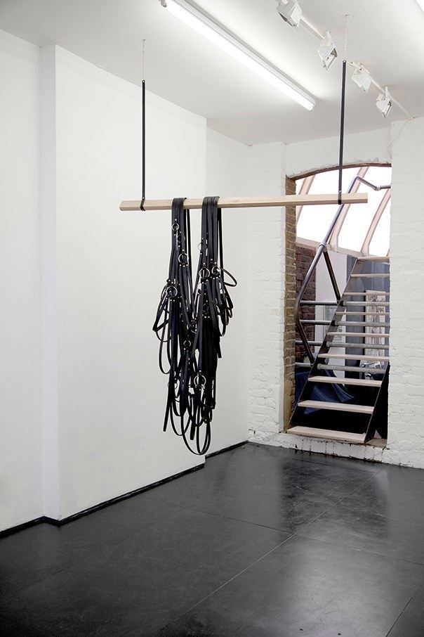 Simona Brinkmann. Rig (2014). Leather, oak, metal fittings.